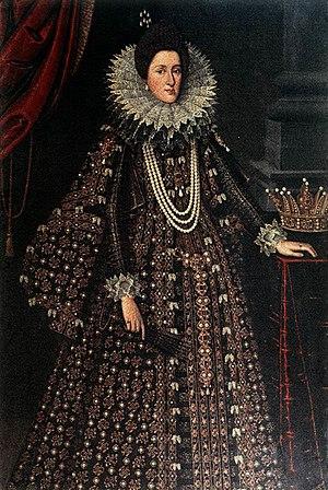 Tiberio di Tito - Portrait of Maria Maddalena of Austria, by Tiberio di Tito, Uffizi, 1610