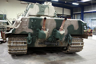 Tiger II - Rear view showing dual exhausts