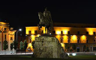 Tirana County - Skanderbeg Monument