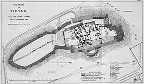 Plan of Tiryns Castle