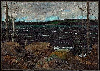 Tom Thomson - Northern Lake, Winter 1912–13. 71.7 x 102.4 cm. Art Gallery of Ontario, Toronto