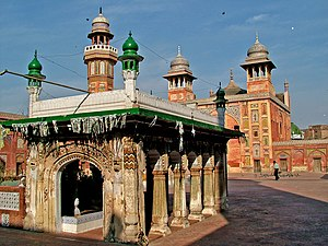 Wazir Khan Mosque - The mosque contains the tomb of the Sufi saint Syed Muhammad Ishaq Gazruni, also known as Miran Badshah.
