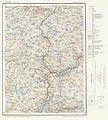 Topographic map of Norway, C32 vest Vossestrand, 1964.jpg