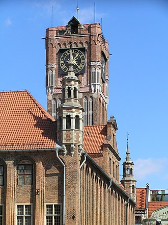 History of Toruń - Gothic City Hall (Ratusz) started in the 13th century