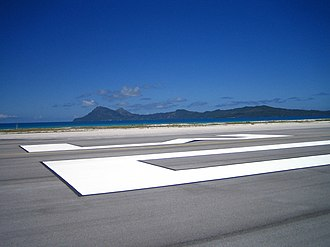 Totegegie Airport - Totegegie runway, looking out at Mangareva
