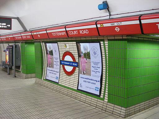 Tottenham Court Road tube Roundel