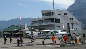 Hohenems-Dornbirn Airport - Image: Tower Hohenems 1