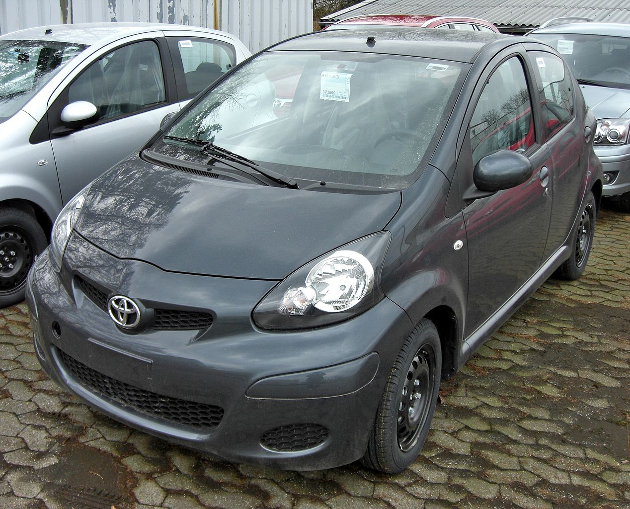 file toyota aygo facelift 20090314 wikimedia commons. Black Bedroom Furniture Sets. Home Design Ideas