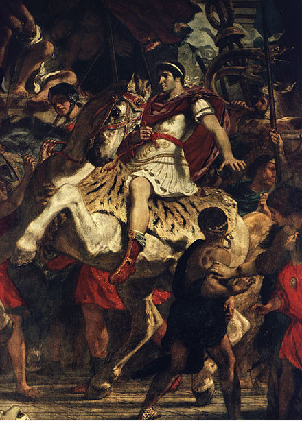 The Justice of Trajan (fragment) by Eugene Delacroix Traiani iustitia.jpg