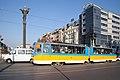 Tram in Sofia near Sofia statue 2012 PD 047.jpg