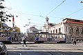 Trams in Sofia in front of Central Market Hall 2012 PD 05.JPG