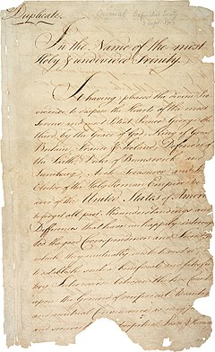 Treaty of Paris 1783 - first page (hi-res)