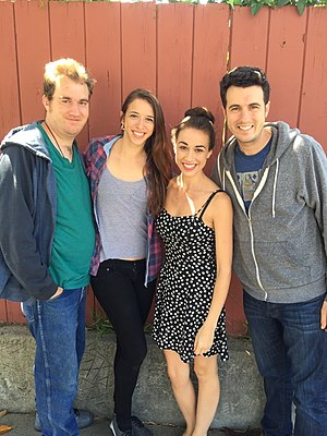 Colleen Ballinger - All four Ballinger siblings, from left: Trent, Rachel, Colleen and Chris, in 2015