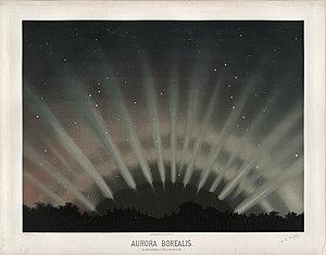 Étienne Léopold Trouvelot - Image: Trouvelot Aurora Borealis 1872