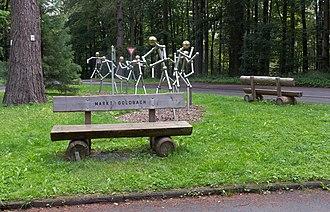 Goldbach, Bavaria - Image: Tussen Unterafferbach en Goldbach, sculptuur foto 5 2016 08 09 10.09