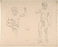 Two Male Nudes, Seated and Standing, after photographs of models by Eugène Durieu MET DP805851.jpg