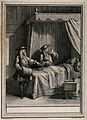 Two doctor arguing over the bed of a dying patient. Engravin Wellcome V0016038.jpg