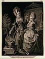 Two ladies indoors contemplate a house plant which is losing its foliage Wellcome V0044514.jpg