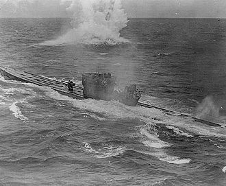 German submarine U-848 - U-848 under attack