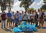 U.S. Sailors assigned to the guided missile cruiser USS Vella Gulf (CG 72) participate in a beach beautification community relations project during a port visit in Limassol, Cyprus, Sept 080919-N-RT317-060.jpg