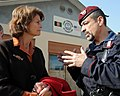 U.S. Senator Lisa Murkowski talks with Brig. Gen. Carmelo Burgio during a tour (4278904910).jpg