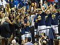 UConn team with championship trophy 2014.jpg