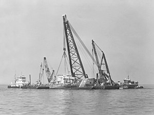 USCGC Blackthorn (WLB-391) - Image: USCGC Blackthorn (WLB 391) being raised in 1980