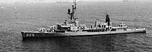 USS Agerholm (DD-826) anchored off Coronado on 7 August 1976 (USN 1168655).jpg