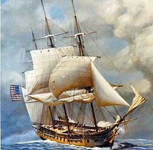 Original six frigates of the United States Navy - USS Constellation by John W. Schmidt