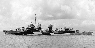 USS John Hood (DD-655) - USS John Hood (DD-655) in Mobile Bay 1944