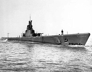Paddle (SS-263), underway, c. 1944-45.