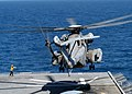 US Navy 030430-N-2819P-036 A CH-53E Super Stallion helicopter launches from the flight deck aboard USS Kearsarge (LHD 3). Kearsarge is deployed conducting missions in support of Operation Iraqi Freedom.jpg
