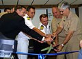 US Navy 040927-N-5268S-005 Vice Adm. Kirkland H. Donald, right, and members of the International Submarine Escape and Rescue Liaison Office (ISMERLO), cut the ribbon at the opening of the new ISMERLO Coordination Center.jpg