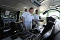 US Navy 090407-N-8273J-270 Chief of Naval Operations (CNO) Adm. Gary Roughead, left, is given a tour of the bridge of the South African Navy valour-class frigate SAS Mendi.jpg