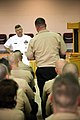 US Navy 090610-N-3271W-064 Master Chief Petty Officer of the Navy (MCPON) Rick West speaks to sailors at Navy Recruiting District Nashville during Chattanooga Navy Week.jpg