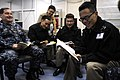 US Navy 090901-N-3830J-001 Republic of Korea Navy officers discuss mission planning with embarked U.S. 7th Fleet staff Sailors.jpg