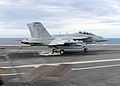 US Navy 100522-N-3885H-113 An E-A-18G Growler assigned to the Shadowhawks of Electronic Attack Squadron (VAQ) 141 makes the 5,000th arrested landing.jpg