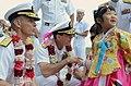 US Navy 110929-N-UN744-218 Rear Adm. J.R. Haley and Rear Adm. William McQuilkin are greeted by Korean children after USS George Washington (CVN 73).jpg