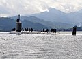 US Navy 111110-N-QY759-083 The Virginia-class attack submarine USS Texas (SSN 775) enters Subic Bay to conduct a port visit and coordinated tended.jpg