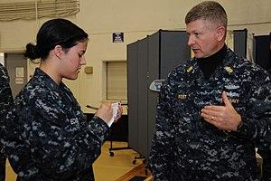 US Navy 120119-N-ED149-044 Mass Communication Specialist 3rd Class Jessica Echerri, assigned to the aircraft carrier USS Theodore Roosevelt (CVN 71.jpg