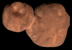 Kuiper belt object 486958 Arrokoth in near-true colour