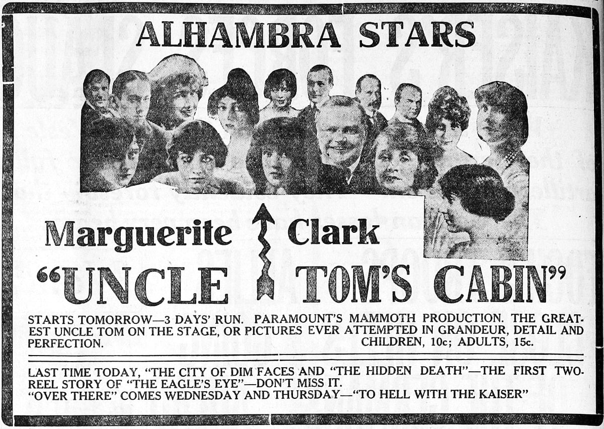 La case de l 39 oncle tom film 1918 wikip dia for Tom s cabin