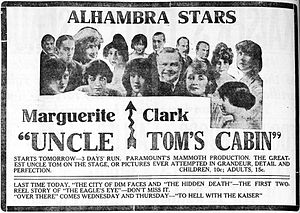 Uncle Tom's Cabin (1918 film) - Newspaper advertisement