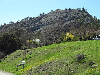 Aubignosc - A hill formed of alternate bands of limestone and clay