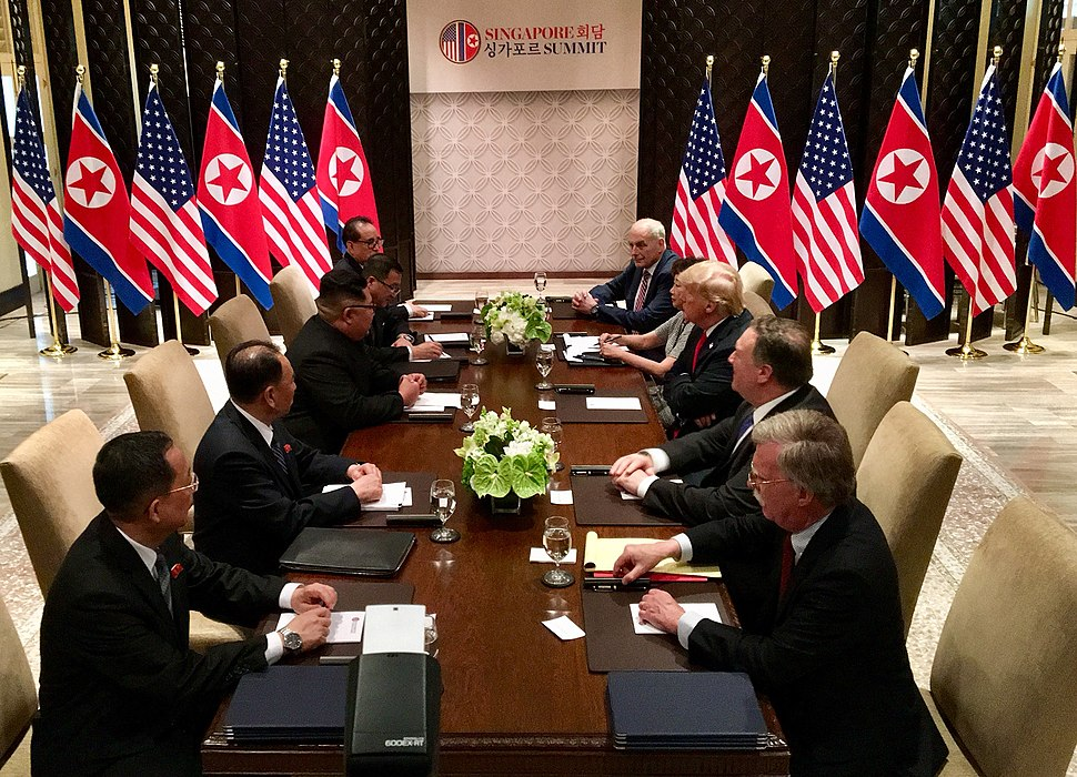 United States North Korea Bilateral meeting with respective delegations