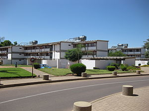 Residence hall of the University of Botswana i...
