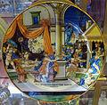 Urbino, francesco xanto avelli, piatto con giuseppe e moglie di putifarre (da marcantonio raimondi), 1537.JPG