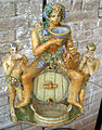 Urbino, patanazzi, bacco sulla botte tra ignudi, fine XVI-prima metà del XVII sec..JPG