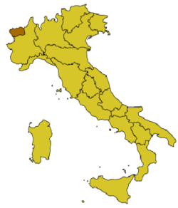 Location of Aosta / Aoste