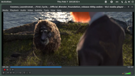 VLC media player die Cosmos Laundromat afspeelt op GNOME 3